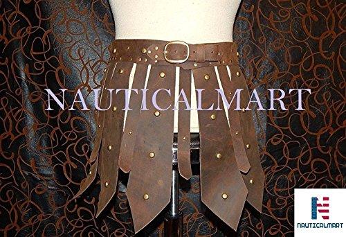 Roman Gladiator Leather Skirt Halloween SCA, LARP Costume Brown]()