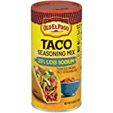 Old El Paso 25% Less Sodium Taco Seasoning Mix Shaker, 6.25 Ounce (Pack of 12)