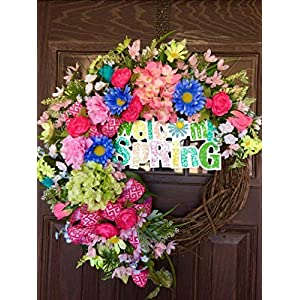 Large Spring Easter Grapevine Wreath