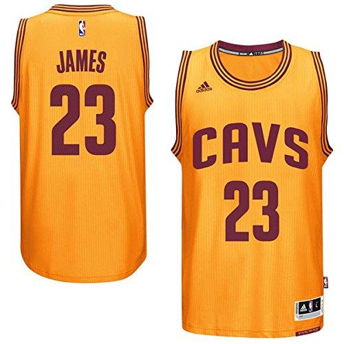 Mens Cleveland Cavaliers LeBron James adidas Gold 2014-15 New Swingman Alternate Jersey (Small) (Jersey Cavaliers New)
