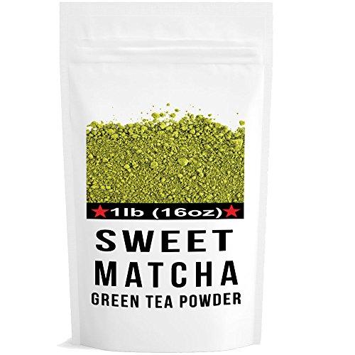China 4 Berry Bowls (Sweet Matcha Green Tea Powder (16oz/453g) China Matcha Japan Style; Culinary Grade; Delicious Energy Drink - Shake, Latte, Frape, Smoothie. Made with USDA Organic Matcha.)