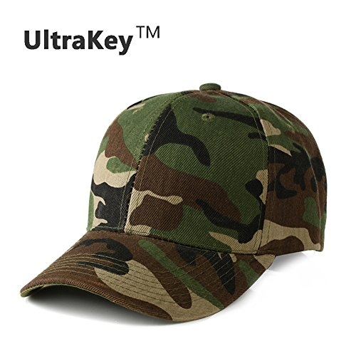 Mens Army Military Camo Cap Baseball Casquette Camouflage Hats For Men Hunting (Green)