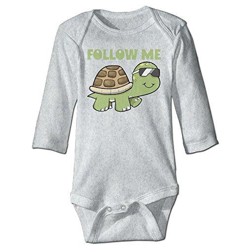 Follow Me Cool Cartoon Turtle Infant Baby Toddler Romper Bodysuit 24 Months Ash