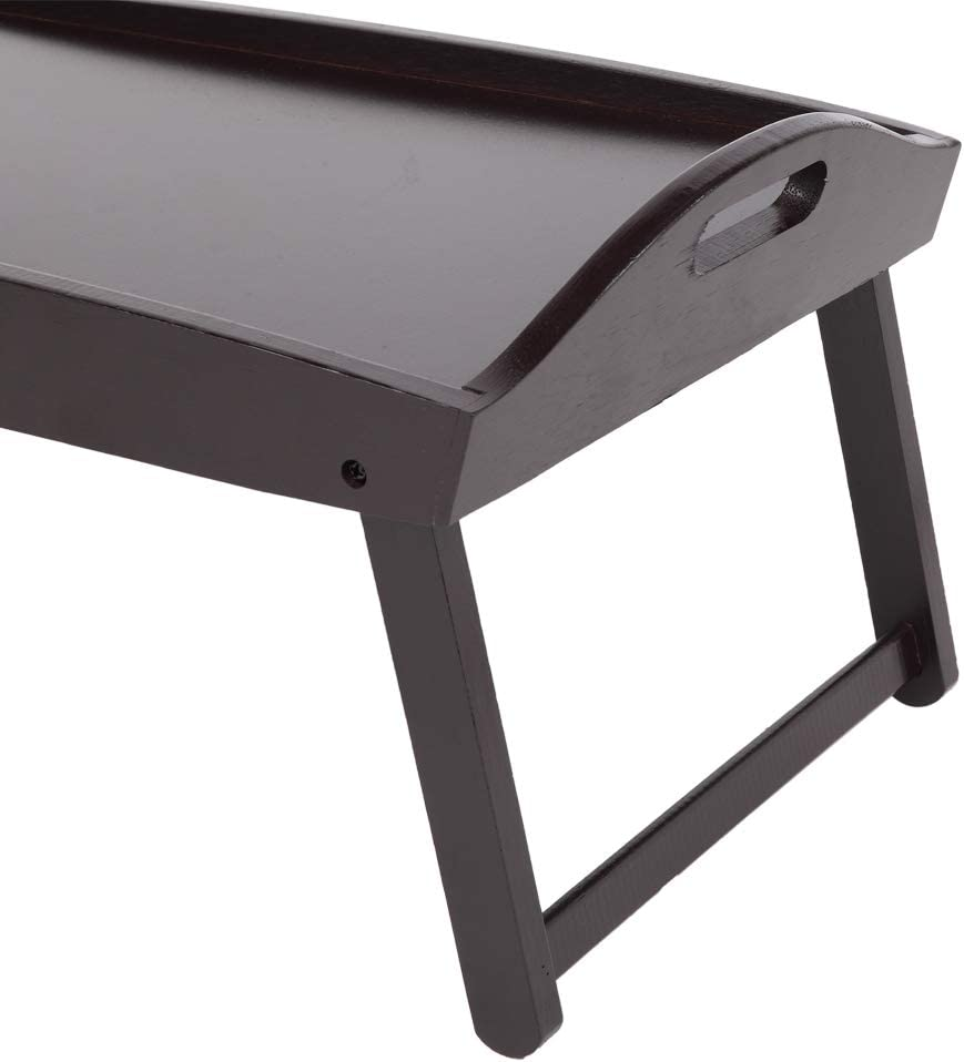 Foldable Laptop Table Breakfast Serving Bed Tray Lap Desk for Reading Writing Eating on Bed Couch Sofa Floor Bed Tray Table with Folding Legs
