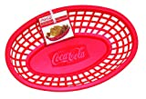 Tablecraft CC1074R Coca-Cola Oval Plastic Basket