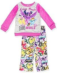 Girls Plush Top and Flannel Pants Pajamas (Little Kid/Big Kid)