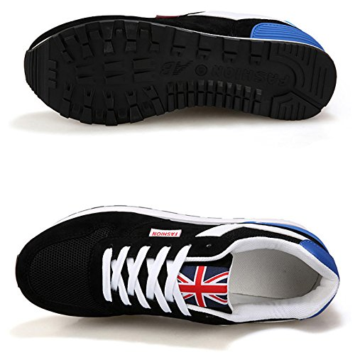 R shoes Black Mesh surface male 43 SODIAL movemalet casual shoes male Breathable EqvSwdFE