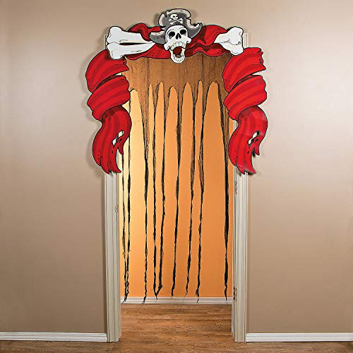 Fun Express - Ragged Ship Door Curtain for Halloween - Party Decor - Door Decor - Door Borders & Curtains - Halloween - 1 Piece