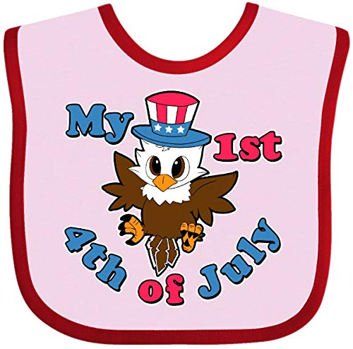 Inktastic - My 1st 4th of July with Baby Eagle Baby Bib Pink and Red 29cc8