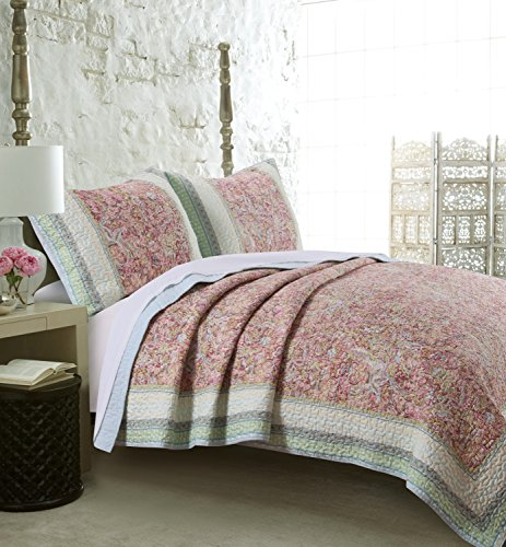 Barefoot Bungalow Palisades Pastel Quilt Set, 3-Piece Full/Queen from Barefoot Bungalow