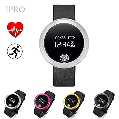 Adults Heart Rate Monitor,IPRO Iphone/Android Waterproof Bluetooth Smartwatch Activity Pedometer Bracelet Calorie Counter Anti-lost Health Sleep and Fitness Tracker with Calling Reminder-S6