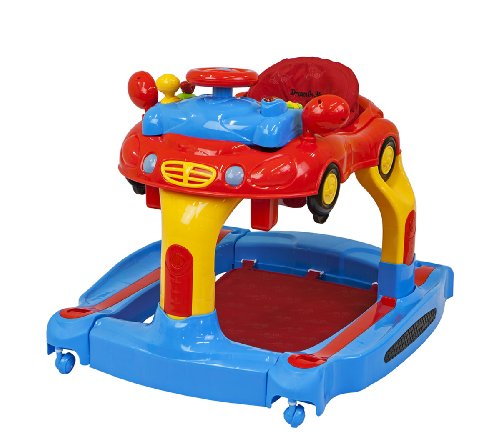 Dream On Me Joyride 3 In 1 Walker Rocker and Push Toy Red by Dream On Me