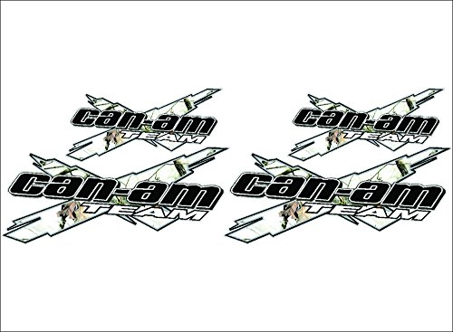 CAN-AM Team 3DX / CAMO WHITE / 4 PACK Vinyl Vehicle ATV Utility Graphic Decal Stickers