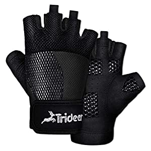 Trideer Breathable Workout Gloves Women, Weight Lifting Gloves, Gym Gloves, Exercise Gloves for Climbing, Fingerless Gym…