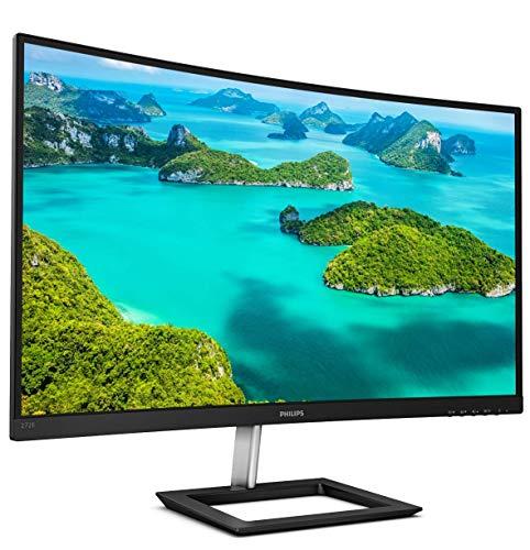 Philips 272E1CA Monitor curvo sin marco de 27 , Full HD 1080P, 100% sRGB, Adaptive-Sync, altavoces, VESA, 4 años de garantía de reemplazo anticipada