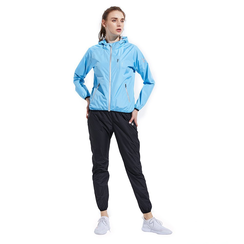 HOTSUIT Sauna Suit Weight Loss for Women Slim Fitness Clothes (Blue,Large) by HOTSUIT (Image #1)