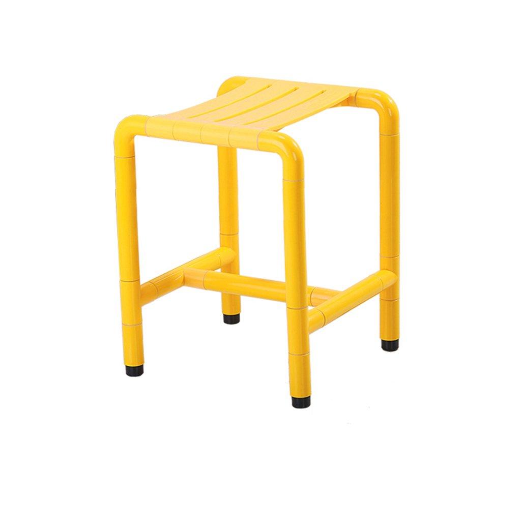 高齢者のためのシャワースツール滑り止めセーフティバススツールスツールスツールバスルームスツールトイレバスルームスツール (色 : イエロー いえろ゜, サイズ さいず : C) B07DFGP48P C イエロー いえろ゜ イエロー いえろ゜ C