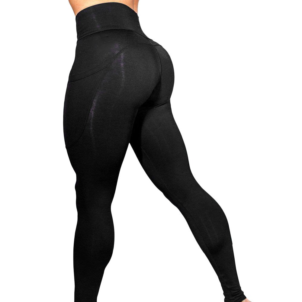 Full Length Leggings Stretch Soft Womens Solid Workout Leggings Fitness Sports Gym Running Yoga Athletic Pants -Tummy Contro Plus Sizes,High Waisted Leggings Zeside Gym Leggings Yoga Pants