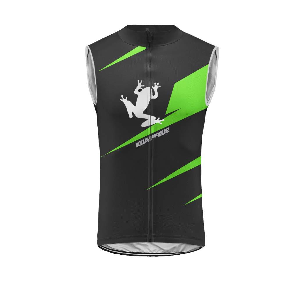 Uglyfrog® Radweste Radsport Reflektierende Sleeveless Radfahren Jacke für Männer Mantel Fahrrad Ultraleicht und Winddicht Weste 27-DEHerrenZRV28