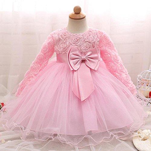 0ebf226b3 QUICKLYLY Vestidos Cortos Bautizo Bebé Niñas Princesa Para Bodas Gasas Manga  larga Princesa Tutu Traje (