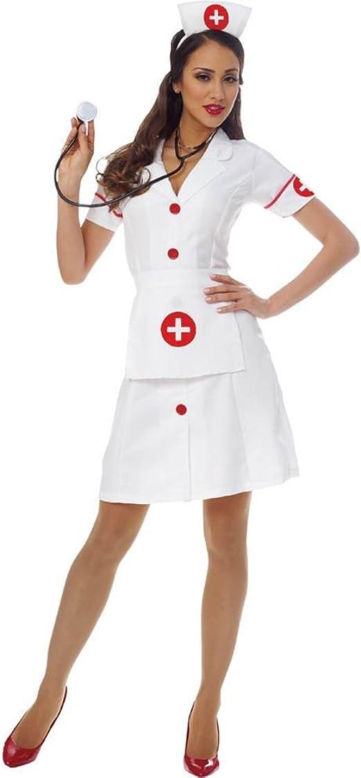 Plus size black Doctor Nurse zipper dress costume