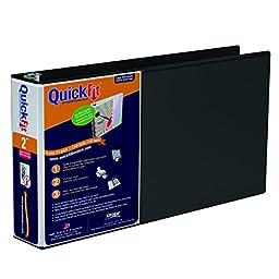 QuickFit 2 Inch Spreadsheet View Binder 8.5\