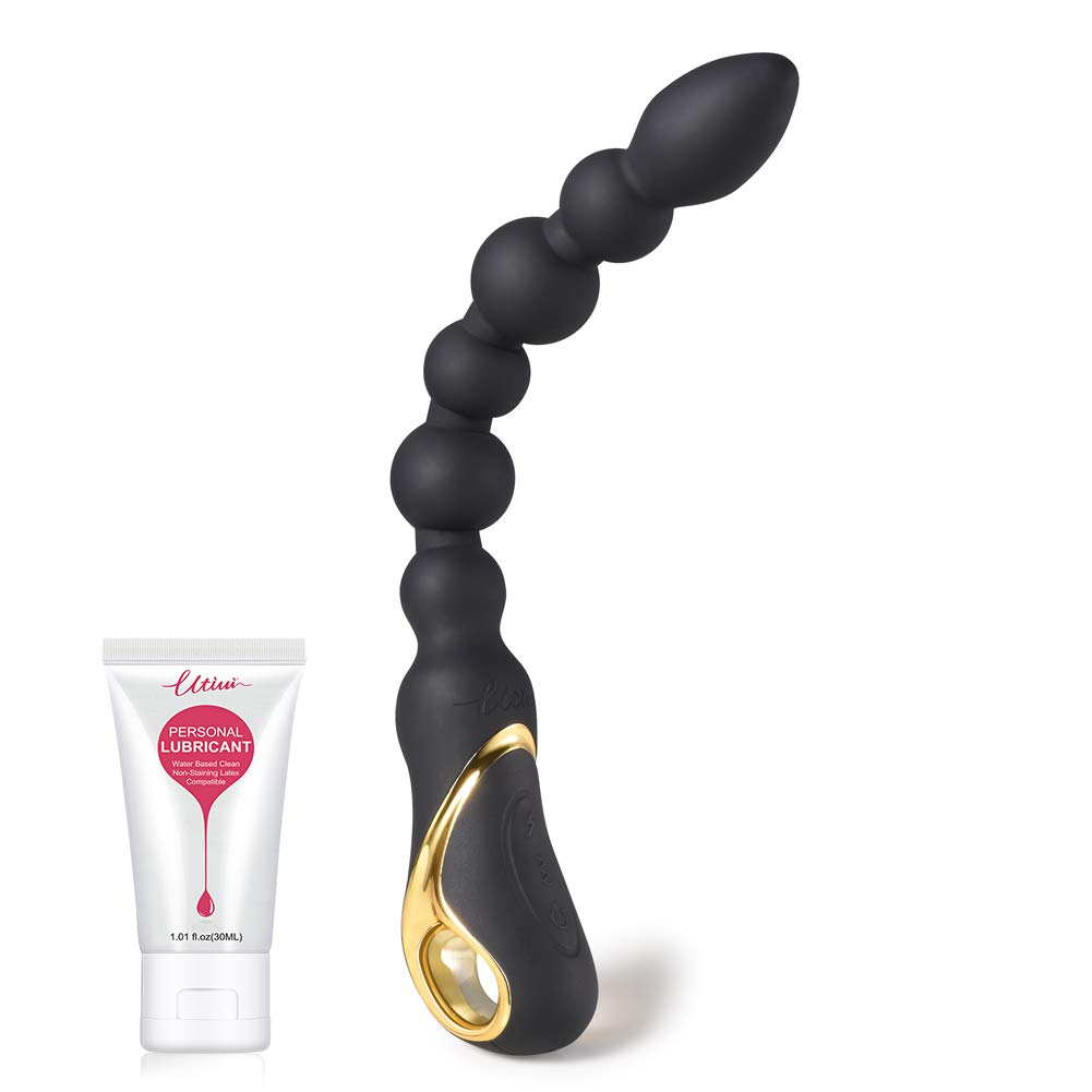 Utimi Anal Sex Toys Vibrating Anal Beads Anal Vibrator Prostate Massager with Pull Ring by UTIMI