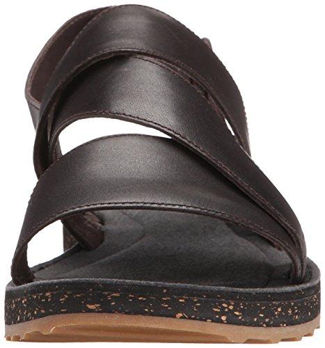 Sandalo Gladiatore Pimpom Da Donna, Marrone Scuro, 35 Eu / 5 M Us