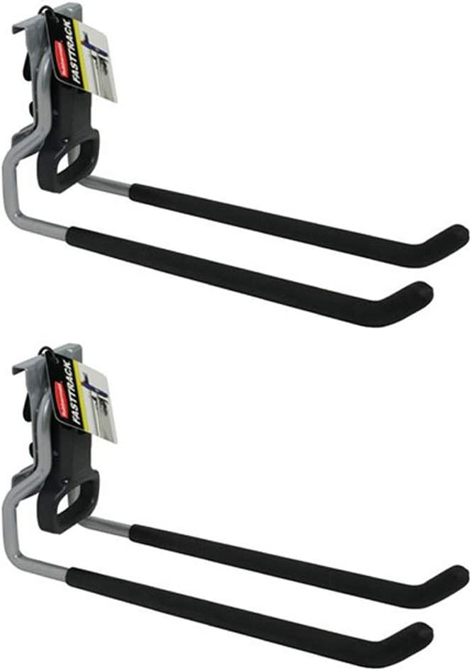 Rubbermaid Fast Track Wall Mounted Garage Storage Utility Multi Hook (2 Pack)