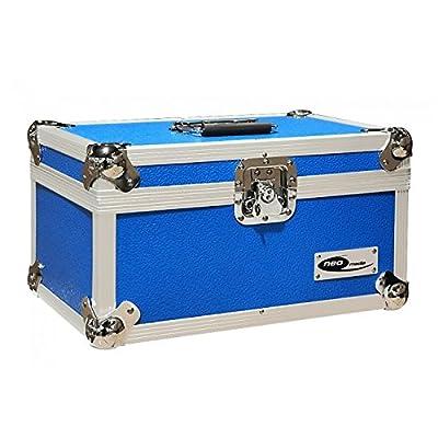 Neo Media 7pulgadas 200LP DJ caja de almacenamiento–azul