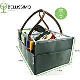 Bellissimo - Art Supply Organizer l Craft Tote Bag l Toy Storage Organizer l Travel Basket l Toy Bin