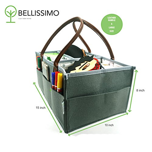 Bellissimo - Art Supply Organizer l Craft Tote Bag l Toy Storage Organizer l Travel Basket l Toy Bin