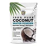 Earth Circle Organics polvo de agua de coco puro | hidratación | suplemento de energía y electrolitos | sin aditivos o azúcar añadido | vegano | sin gluten