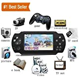Cosmic PSP iNext Classic Gaming Console 8 GB Playstation with Preloaded Games, WiFi, FM, Tf Memory Card and Camera 4.3 Inch Screen Full HD 1080P (Black)
