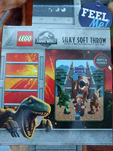 Price comparison product image LEGO Kids Jurassic World Silky Soft Throw Blanket