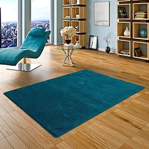 Palace - Tapis Shaggy à poils longs - sarcelle bleu verde - 17 tailles  disponibles