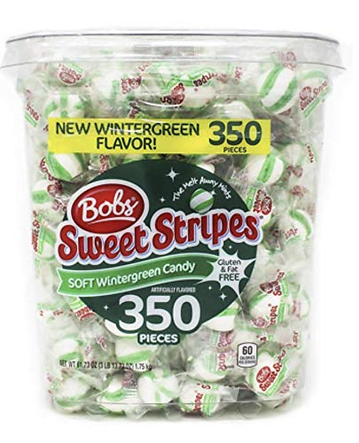 (Bobs Sweet Stripes Mint Candy, Wintergreen, 61.73 Ounce)