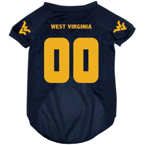 NCAA West Virginia Mountaineers Pet Jersey,  Large