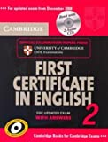 Cambridge First Certificate in English 2 for updated exam Self-study Pack, Cambridge ESOL Staff, 0521714559