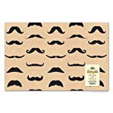 Mustache Gift Wrap Paper - 2 Sheets