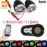 Relax4All - Motorcycle Scooter Alarm bluetooth Handfree Audio System FM Radio Stereo Amplifier Speaker Motorbike Anti-Mheft Device