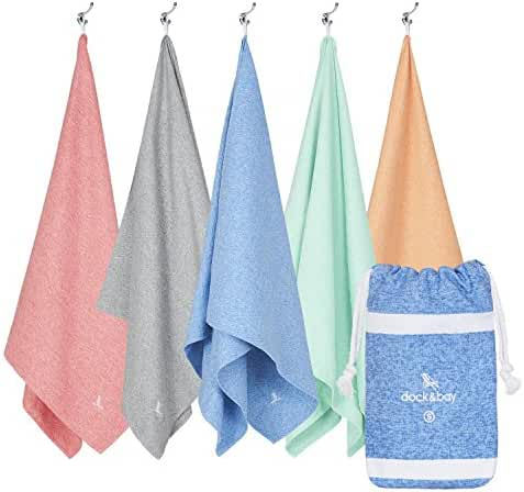 Microfiber Towel & Pouch - Quick Dry Towel, Lightweight & Compact (Extra Large XL 78x35