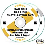 Software : Mac OS X 10.7 Lion Install Disc Full Bootable Installation & Recovery OSX System & Bonus DVD w/ Software, Guides, & Downloads