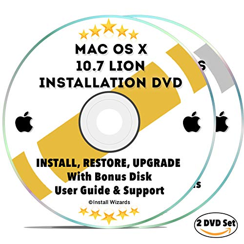 Mac OS X 10.7 Lion Install Disc Full Bootable Installation & Recovery OSX System & Bonus DVD w/ Software, Guides, & Downloads