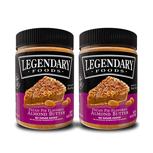 (Legendary Foods Almond Butter | Keto Friendly, Low Carb, No Sugar Added | Pecan Pie (16oz Jar, Pack of)