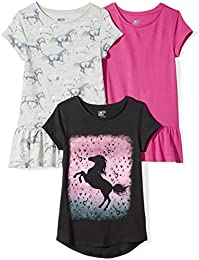Girls 3-Pack Short-Sleeve Tunic Tops