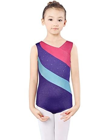 faff4286916d3 DoGeek Gymnastics Leotards for Girls Unitard Dance Athletic Leotard Long  Sleeves for Girls 4-10