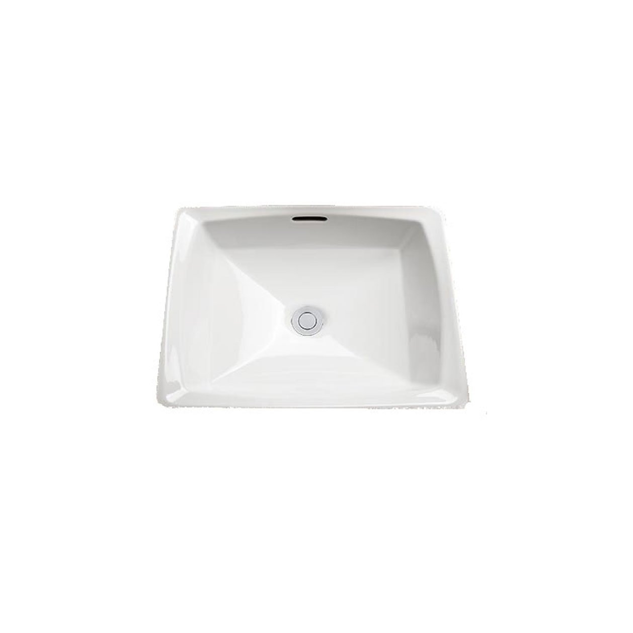 TOTO LT491G 1 Connelly Vitreous China Undermount Square Bathroom Sink, 17 L x 17 W x 7.5 H, Colonial White