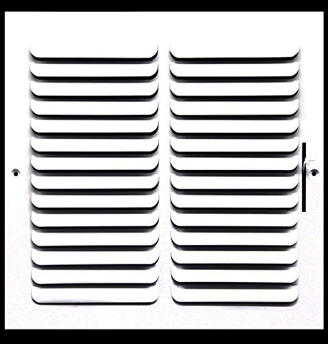 12″ X 12″ 1-Way Fixed Curved Blade AIR Supply Diffuser – Vent Duct Cover – Grille Register – Sidewall or Ceiling – High Airflow – White