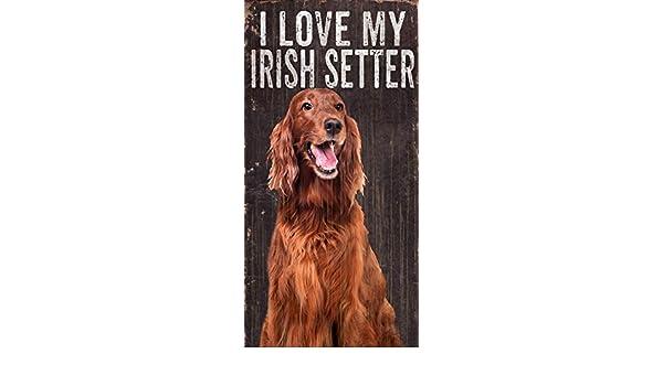 Irish Setter Sign I Love My 5x10